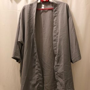 New Blue grey pastel kimono American apparel